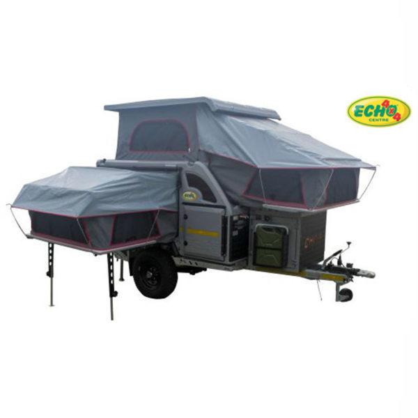 Chobe Tec Off-road Caravan - Tent open